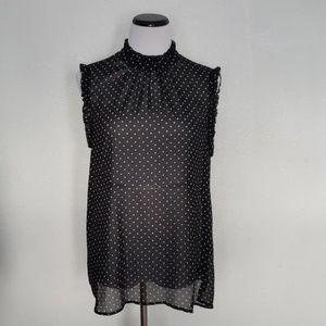 Who What Wear Black Sleeveless Blouse Size XXL